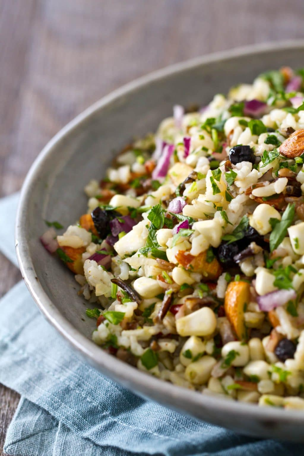 Wild Rice, Corn and Blueberry salad Recipe