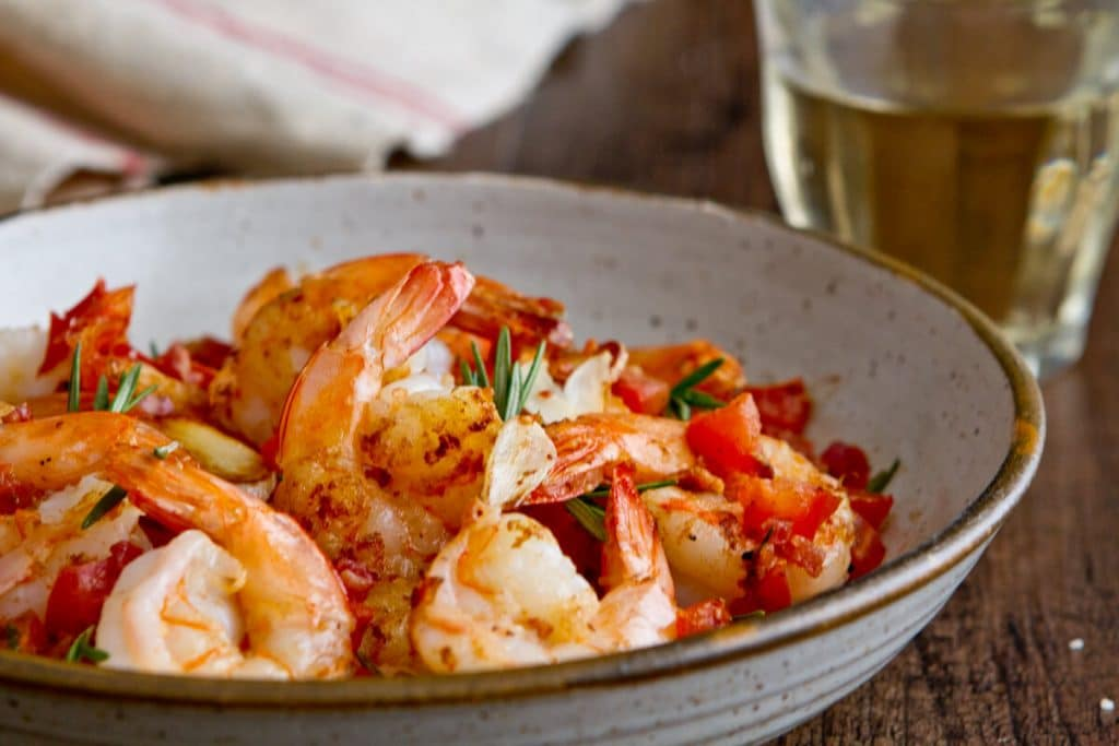 Shrimp with Crispy Pancetta, Tomatoes and Rosemary | A ...