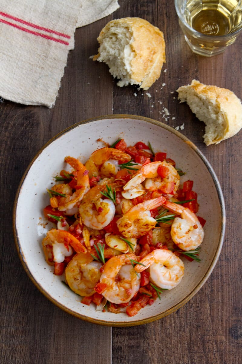 Shrimp with Pancetta and Rosemary
