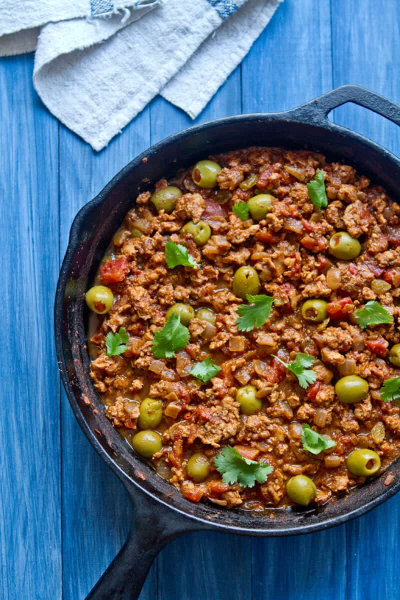 30 minute cuban style Turkey Picadillo
