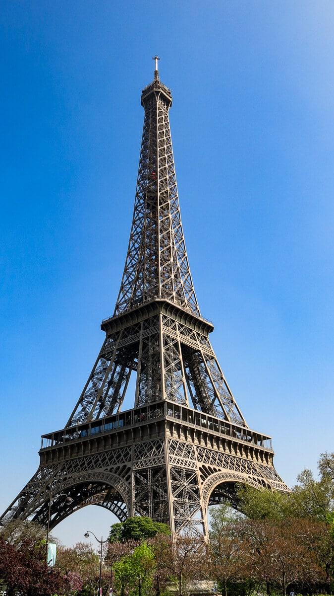 Eiffel Tower in Paris from Bir Hakeim
