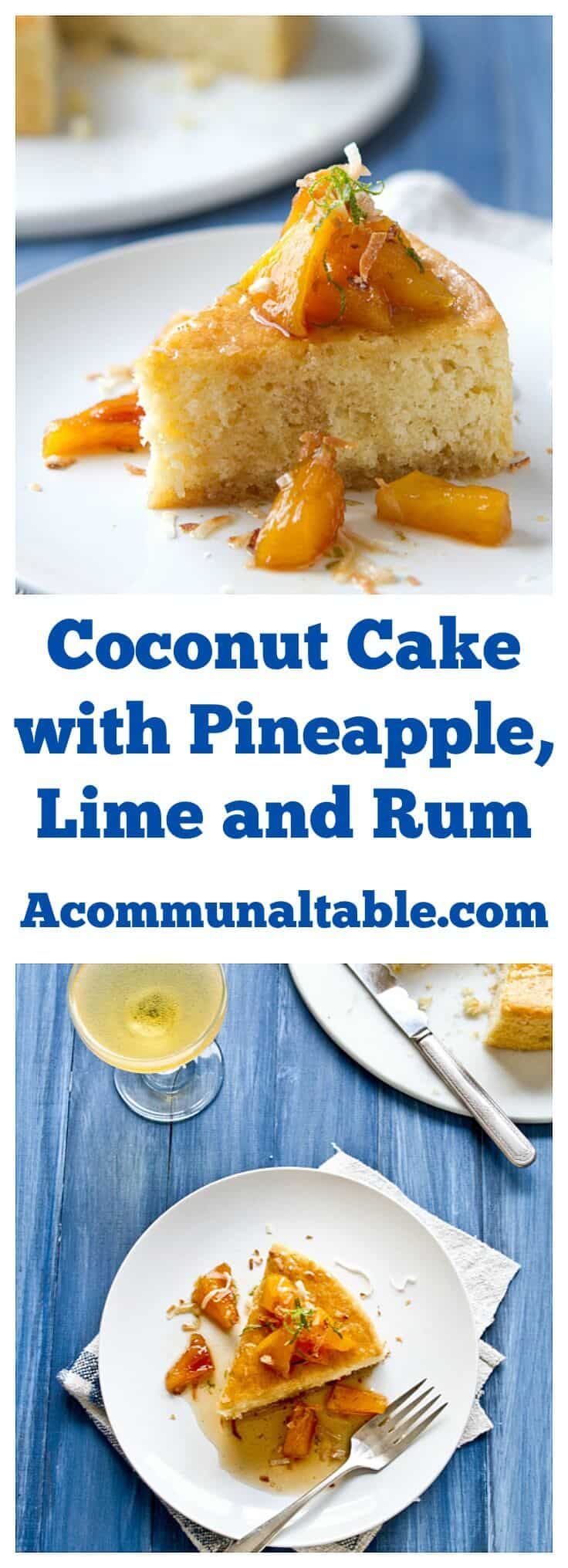 This easy, one pan Coconut Cake with Caramelized Pineapple, Rum and Lime Syrup ups it's tropical flavor cred with fresh coconut and caramelized pineapple.