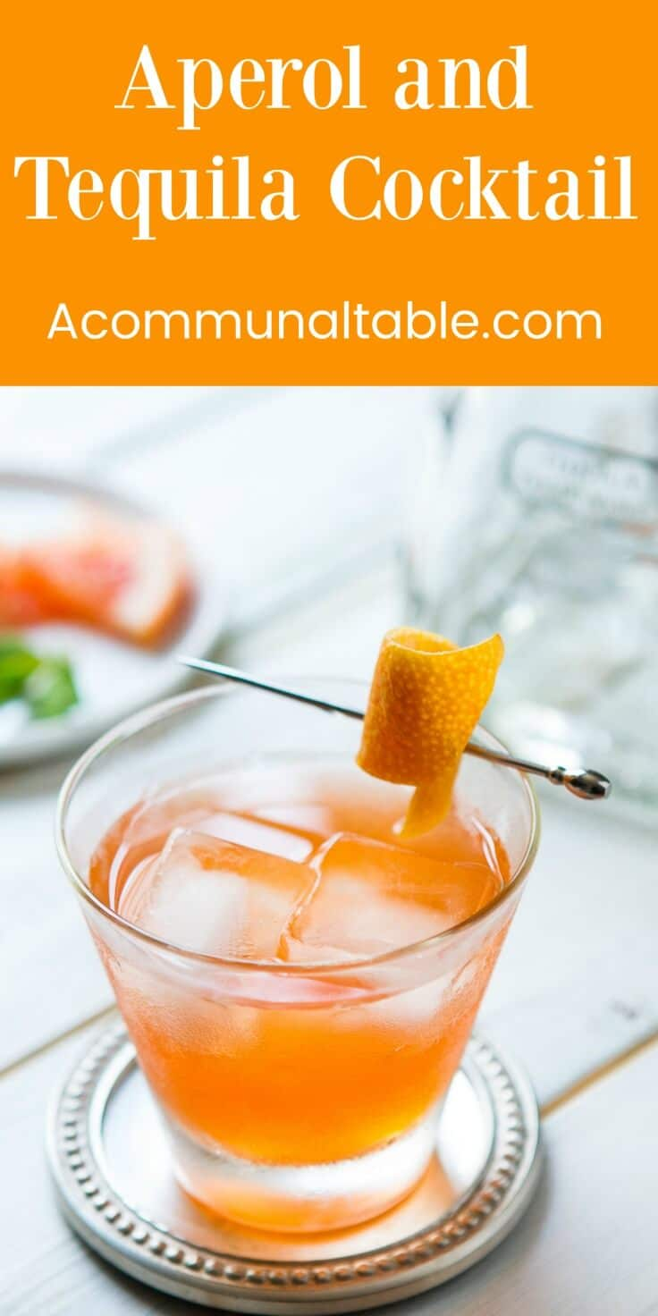 The Part Time Lover - an easy aperol tequila cocktail recipe that's sweet and sour! A refreshing and simple summer drink for backyard parties!