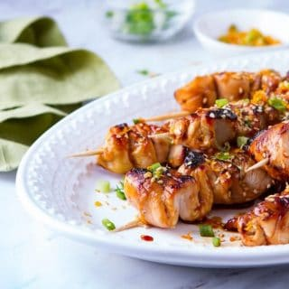 Baked Teriyaki Style Chicken Skewers