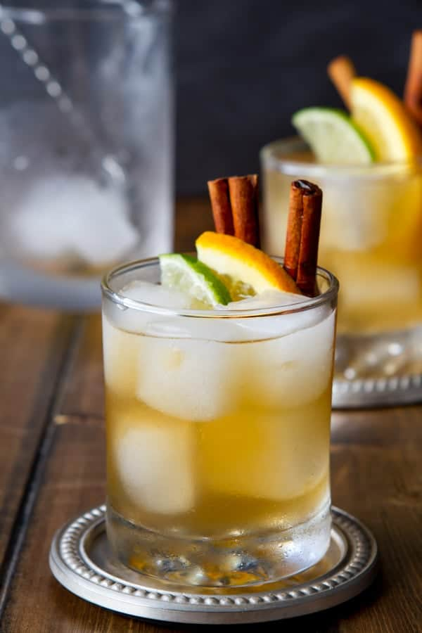 Bourbon, ginger beer, orange and warming spices give this easy Citrus and Spice Kentucky Mule cocktail recipe a bit of a kick!