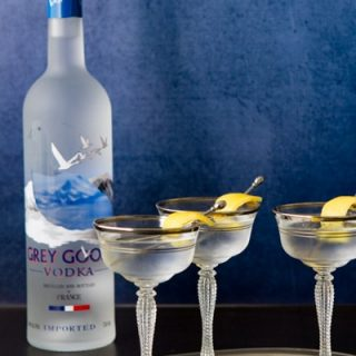 This Grey Goose Martini with a Twist is exactly as it sounds - the classic vodka martini with a nod to those who like them dirty!