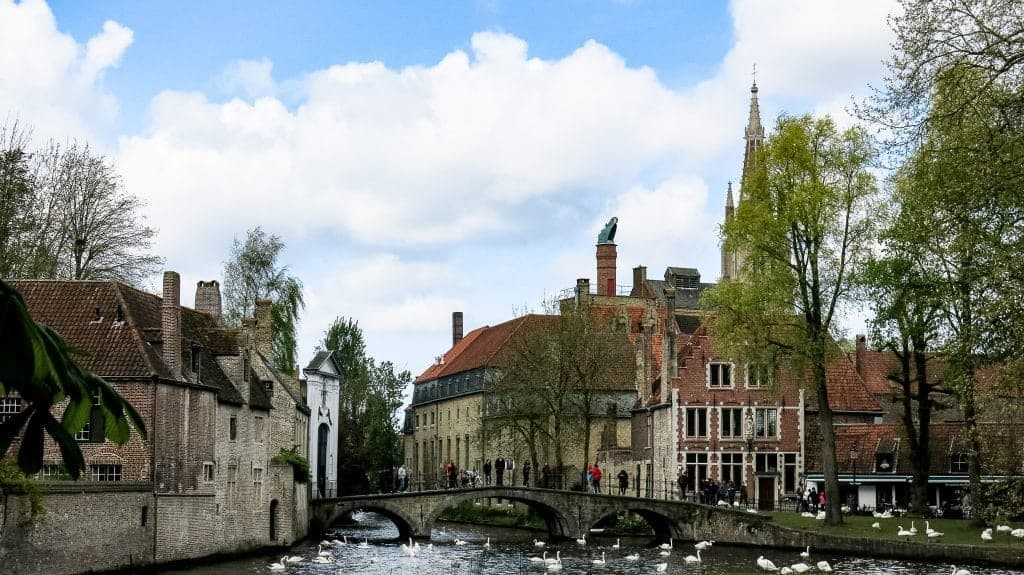 One of the canals in Bruges, Belgium