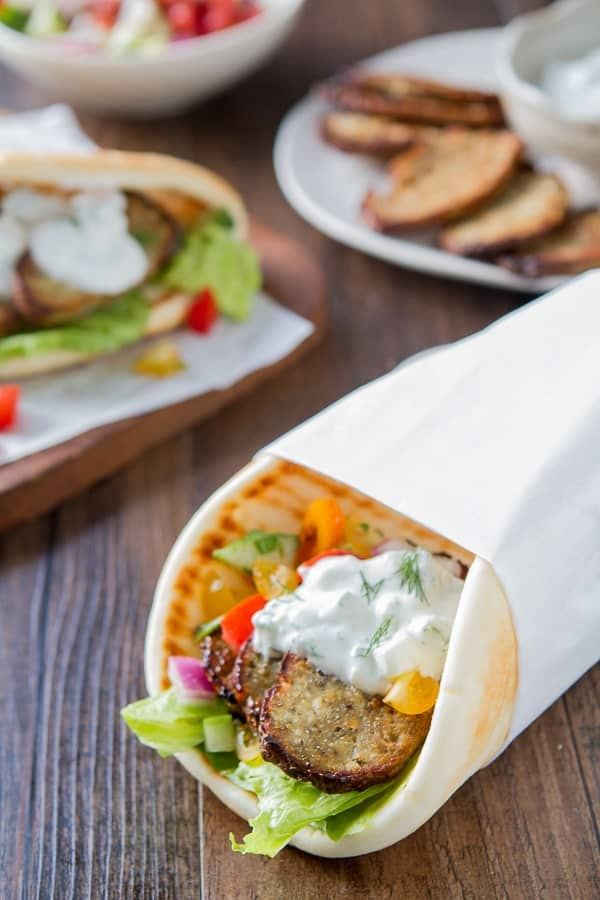 Greek Turkey Gyros with Tzatziki