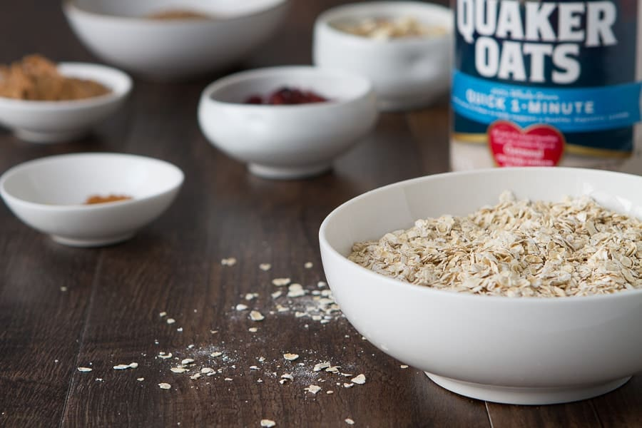 ingredients for no bake flax oatmeal bars