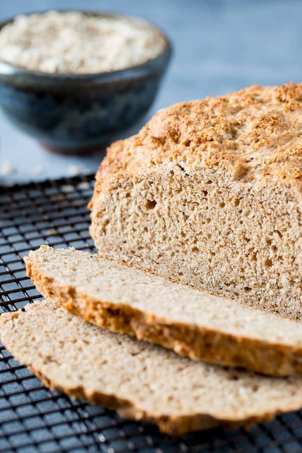 sliced loaf of irish brown bread
