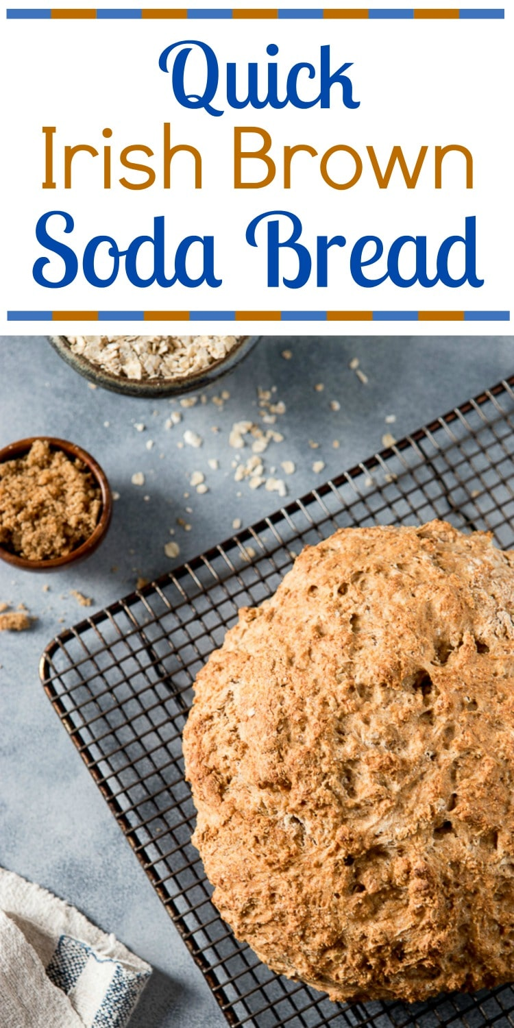No meal in Ireland is complete without a loaf of Irish Brown Bread on the table! This no knead, no yeast Irish Brown Bread recipe is hearty, with a wheaty sweetness that just needs a slather of good Irish butter!
