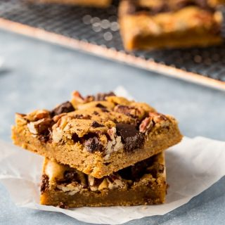 Mexican Chocolate Blonde Brownies