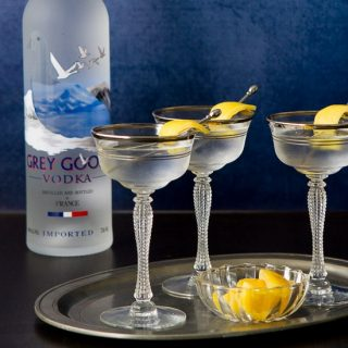 Grey Goose Vodka Martini with a Twist