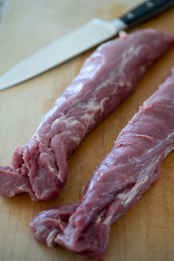 raw pork tenderloin without silver skin