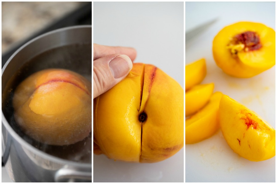 How to peel a peach tutorial.