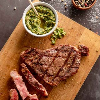 Grilled RibEye with Italian Salsa Verde