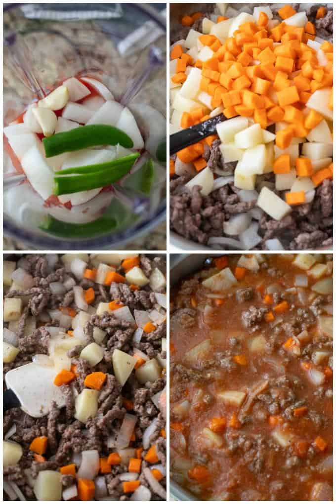 Step by step instructions for how to make this mexican picadillo recipe.