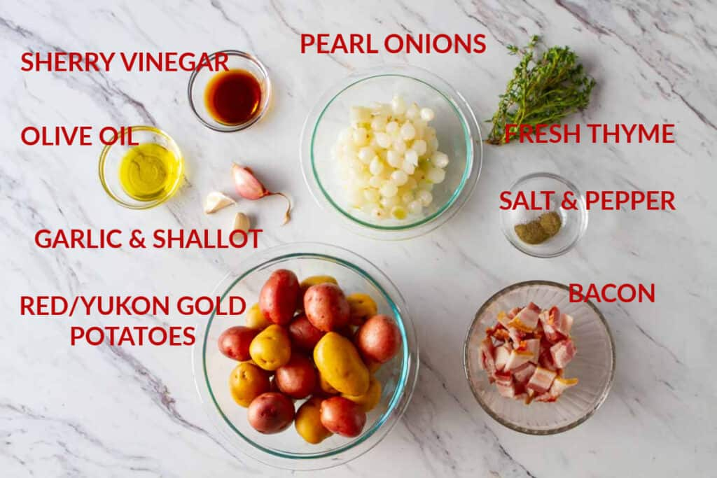 Ingredients for oven roasted baby potatoes.